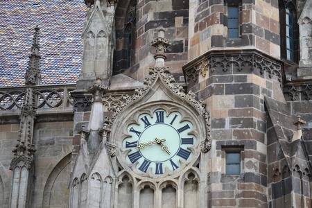 clock on the church