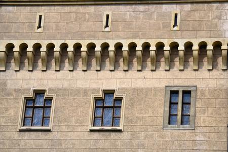 detail historické zdi