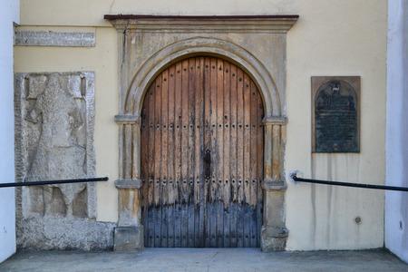 postranní dveře do kostela Reklamní fotografie