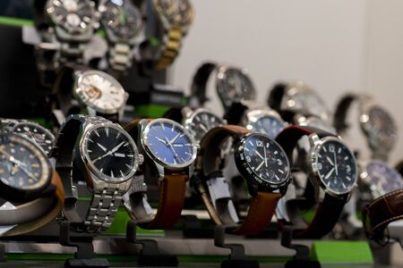 Luxury watches in a store  Stock Photo