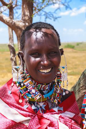 amboseli: Beautiful African woman. Kenya. Amboseli.