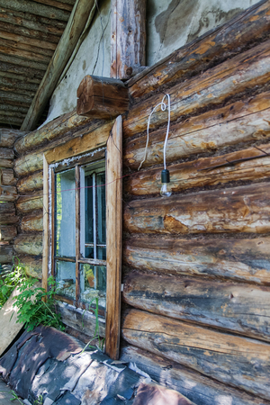 Cottage (the hut) of unknown hunters. The shores of the great river. Siberia
