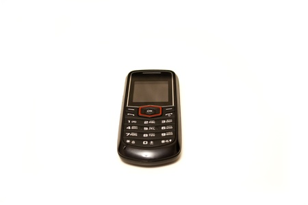 baclground: Mobile phone on white baclground