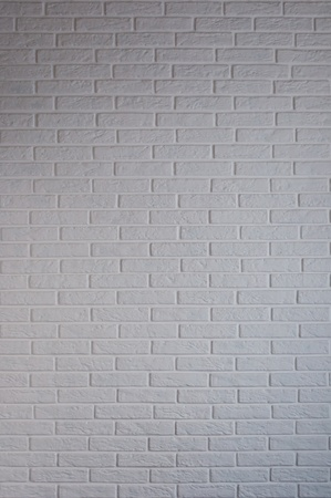 full frames: white brick wall in the interior