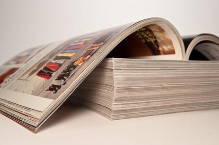 magazine on a stack of magazines photo