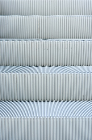 close up of escalator steps photo