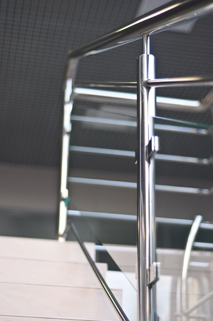 hand rails: handrails in polished stainless steel
