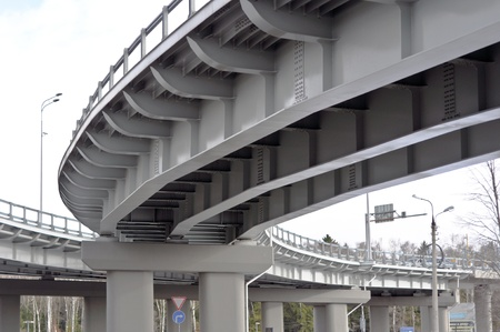 automobile overpass. bottom view photo