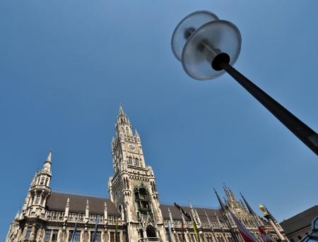 central tower of Neues Rathaus,   Marienplatz, Munich, Germany photo