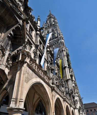 details of Neues Rathaus, Marienplatz, Munich, Germany photo