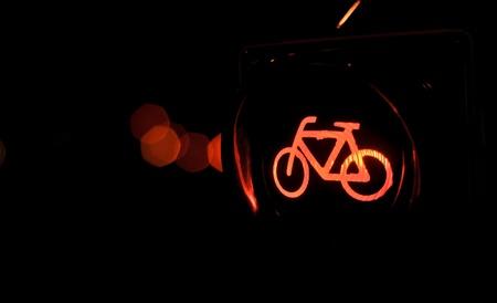 traffic lights bicycle photo
