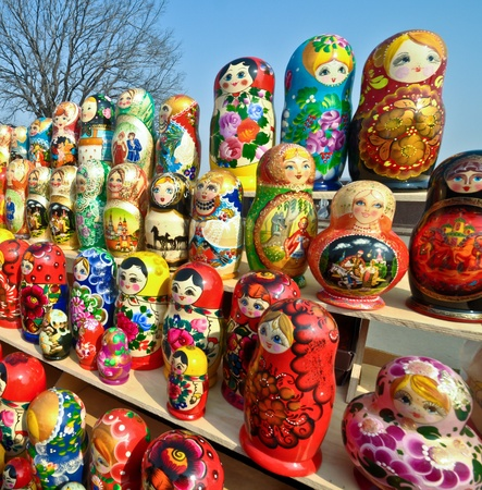 a lot of Russian national souvenirs - matryoshkas.jpg