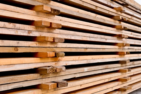 a stack of the wooden pallets photo