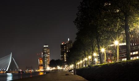 Rotterdam night view photo
