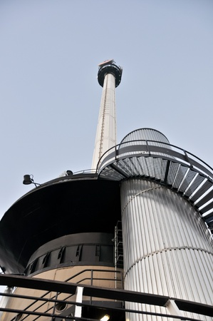 euromast: low angle view of the top of the Euromast against the sky
