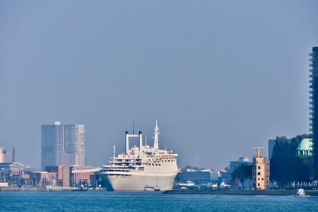 Maas river  skyline. Rotterdam,  Netherlands Stock Photo - 11538849