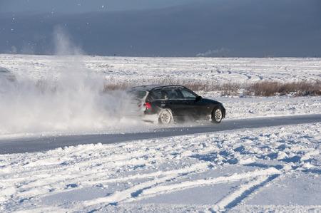 Car drift spray snow