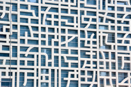 chinesse: facade of the contemporary building Stock Photo