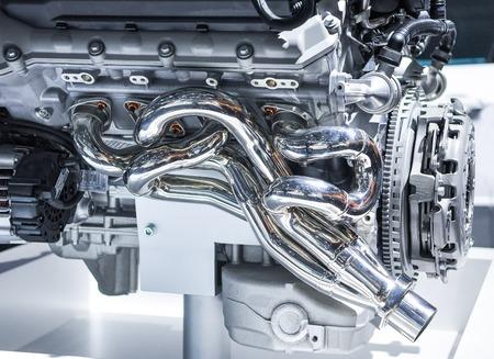 shiny car: the new shiny car engine on exhibition Stock Photo