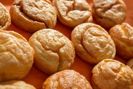 profiterole: the various sweet cream puffs aka profiterole