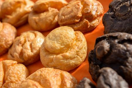 choux bun: the various sweet cream puffs aka profiterole