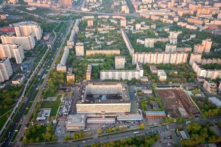 bird's eye view: Birds eye view Ostankino district in Moscow Russia
