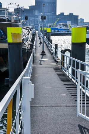 maas: floating dock on Maas river in Rotterdam Netherlands Holland