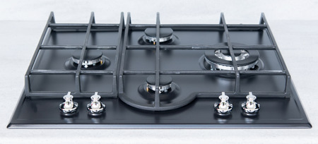 gas cooker: the New and modern shining metal gas cooker