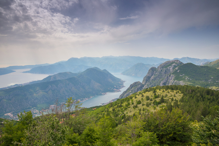 Bay of Kotor in Montenegro, Adriatic coast Stock Photo