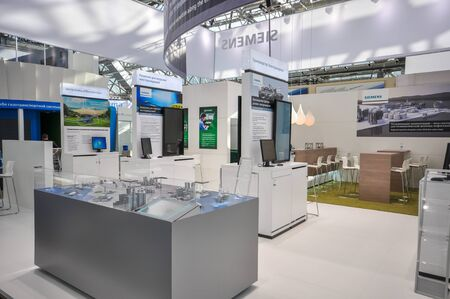 Siemens booth at NEFTEGAZ 2012: International Exhibition for Equipment and Technologies for Oil and Gas Industries, Moscow, Russia, 25 june 2012