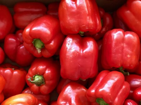 Raw vegetables: red Bell pepper