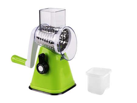 Mechanical grater slicer for vegetables, isolated on white background