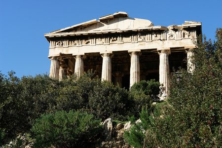The temple of Hephauestus, Thission, in Athens Stock Photo - 1730021