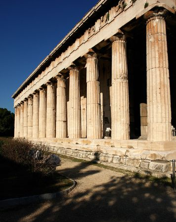 The temple of Hephauestus, Thission, in Athens Stock Photo - 1730008
