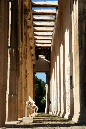 The temple of Hephauestus, Thission, in Athens Stock Photo - 1730013