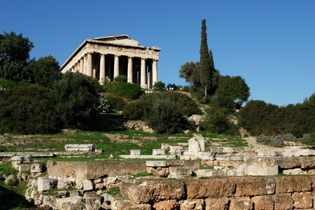 Thission or temple of Hephaestus in Athens Stock Photo - 1730033