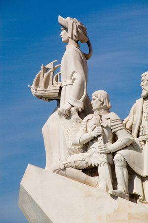 Monument of Portugal Explorers Descobrimentos, Lisbon Stock Photo