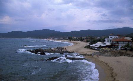Sarti beach, Halkidiki, Greece Stock Photo