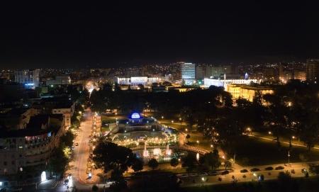 nightview: Tirana by night, Albania