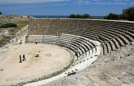 occupied: Salamis ancient theater Cyprus Stock Photo