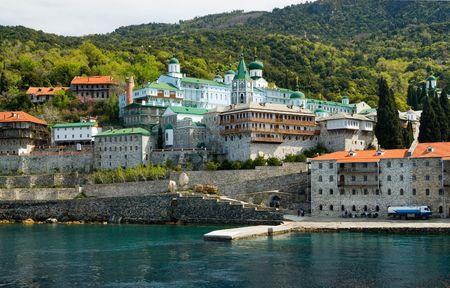 byzantium: Saint Panteleimon monastery, Mount Athos, Halkidiki
