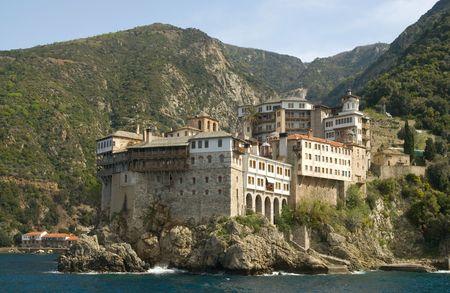 byzantium: Gregoriou monastery, Mount Athos, Halkidiki Stock Photo
