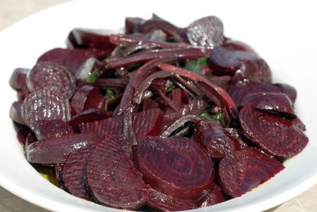 rote: Beet salad ready for a meal Stock Photo