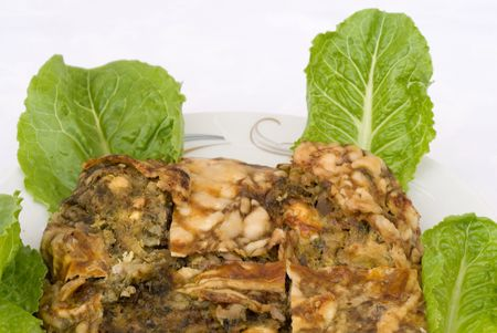 inwards: Cooked food with goat entrails ready to serve