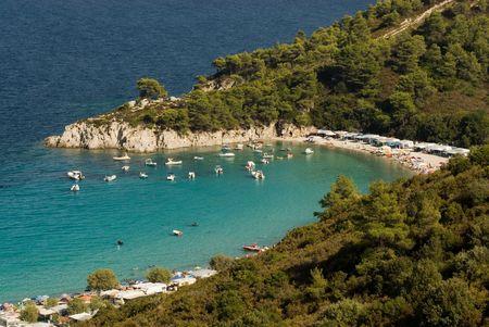 sithonia: Camping Armenistis e la spiaggia, Sithonia, Halkidiki, Grecia
