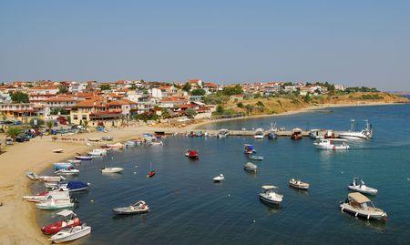 beach cruiser: Nea Fokia at Kassandra, Halkidiki, Greece