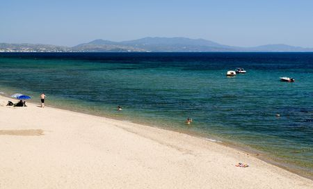 sithonia: Metamorphosi beach, Halkidiki, Greece Stock Photo