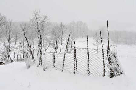 coutryside: Coutryside covered by snow in Greece