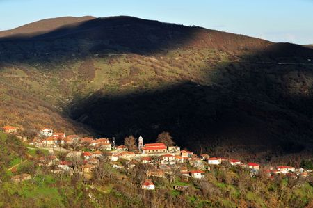 thessaly: Lampero village, at Thessaly, Greece