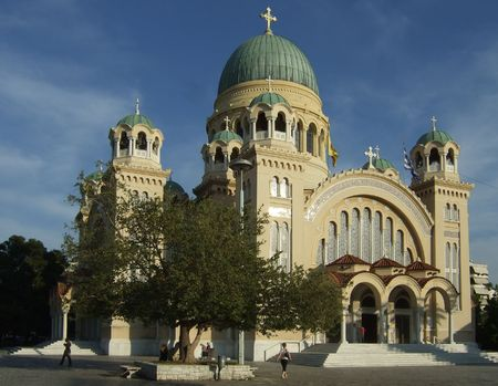andrew: Saint Andrew church, Patras, Greece Stock Photo